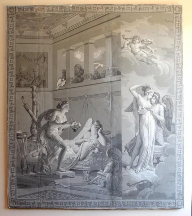 Grande grisaille « La vie de Psyché » Maison Dufour. (c) Antiquites Antoine Ramis, Proantic
