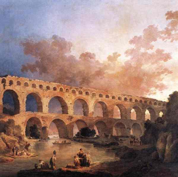 Hubert Robert. Le Pont du Gard (1787). (c) le Louvre