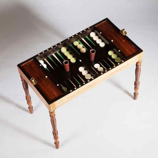 Table de Tric Trac d'Époque 1820. (c) Nicholas Wells Antiques, Proantic