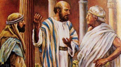 Apostle Paul teaching