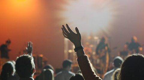 Young people in worship