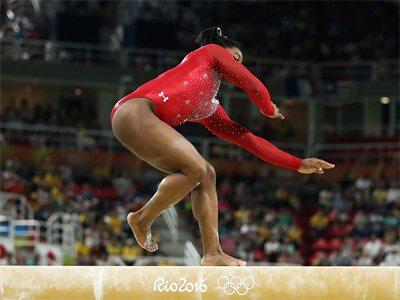 Simone Biles on the Balance Beam
