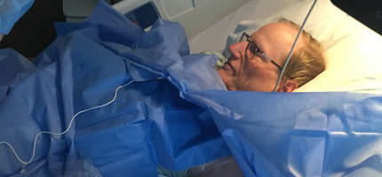 Ray receiving his PICC line
