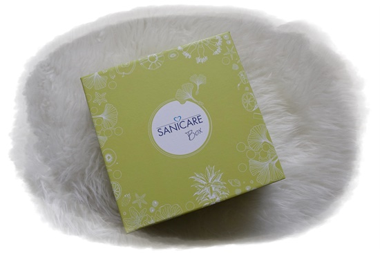 Sanicare Box Sommerzeit Box hellgrün Probenqueen