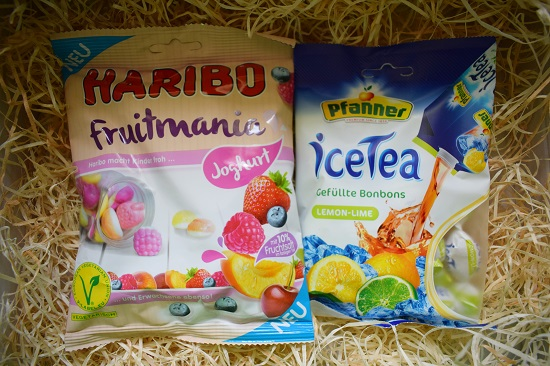 Brandnooz Box August 2017-Haribo-Fruitmania-Pfanner-IceTea-Probenqueen