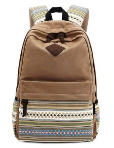3. Winkine Casual Style Lightweight Canvas Laptop Backpack