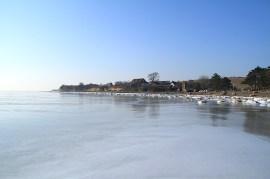 Winter 01 Eis Ostseebad Thiessow Insel Ruegen