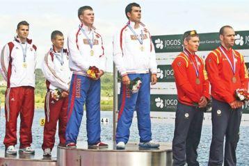 Opt medalii la CE de kaiak-canoe