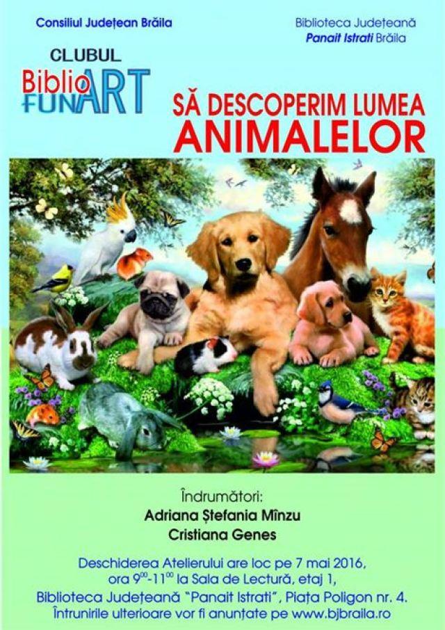 Afis - Lumea animalelor varianta 2