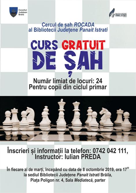Încep înscrierile la Cercul de șah ROCADA