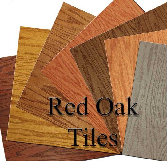 red oak veneer tiles