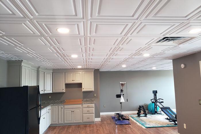 stratford vinyl ceiling tile white 2x4