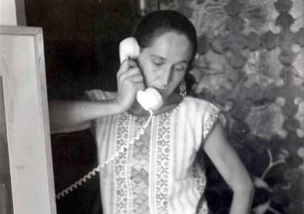 Gloria Contreras en un retrato tomado en mayo de 1983. Foto: Francisco Daniel