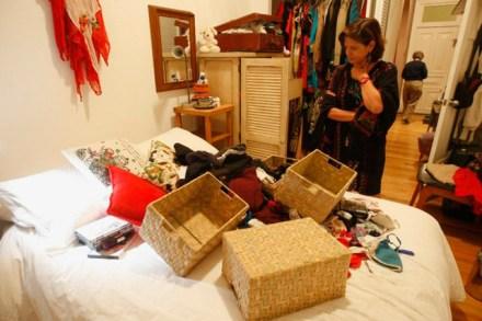 El allanamiento a la casa de Gloria Muñoz.  Foto: Desinformémonos