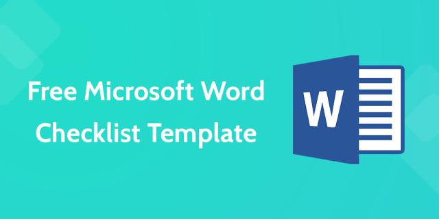 microsoft word templates checklist