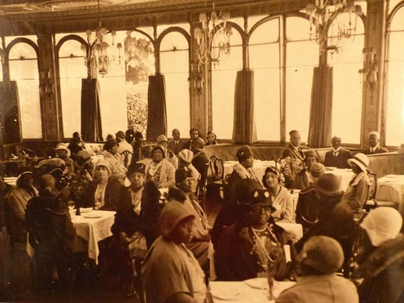 Official tea and reception for Party E, which traveled in May and June of 1931, held at the famous Restaurant Laurent in Paris. Courtesy National Archives, College Park.