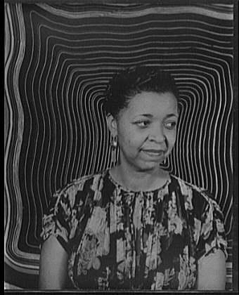 A portrait of Ethel Waters.
