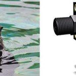 O cachorrinho Sea Otter resgatado, Schuster, que foi apresentado à sua nova casa no Oregon Coast Aquarium em 2012 ... e o interruptor de pressão da série DesignFlex PSF103 que ajuda a manter sua água segura.