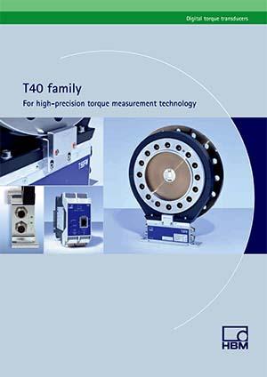 Familia T40 para tecnología de medición de par de alta precisión