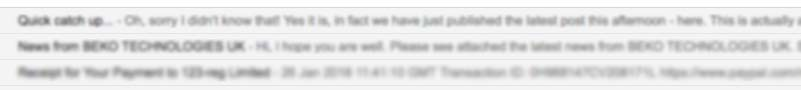 E-Mail erste Zeile