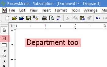 department tool in processmodel