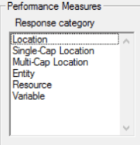 Performance measure in simrunner optimization tool