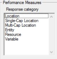 Performance measure in simrunner optimization tool