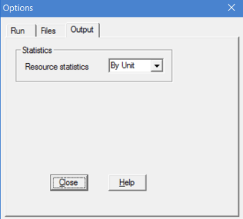 simulation output files tab in processmodel