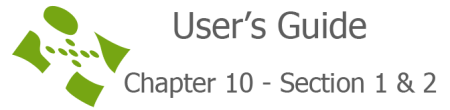 User's guide chapter 10 section 1 & 2