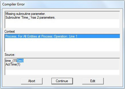 Compiler Error, Missing subroutine parameter. Subroutine 'Time_' has 2 parameters.