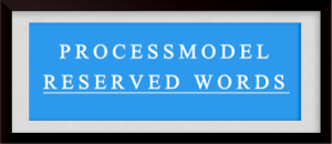 processmodel reserved words