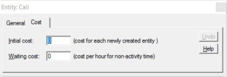 Properties dialog cost processmodel software