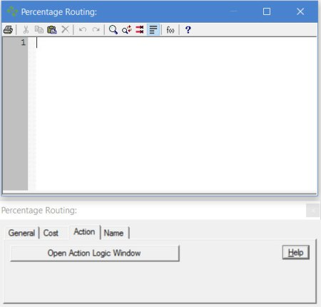 Properties dialog entity routing action ProcessModel software