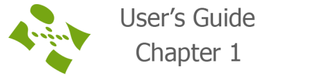 User's guide chapter 1