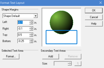 editing text layout of an object