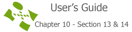 User's guide chapter 10 section 13 & 14