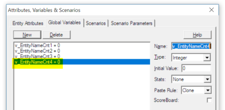 create variable Batch by Name of Entity