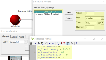 schedule products in High Volume Arrivals