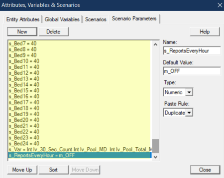 define scenario parameter in Resource Optimizer