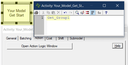 action logic get group in Resource Groups