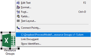 open Resource Groups excel file in Resource Groups