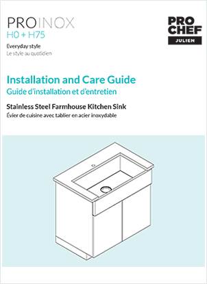 install a stainless steel kitchen sink