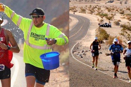 Ultramaraton Badwater se běží v Údolí smrti v Kalifornii