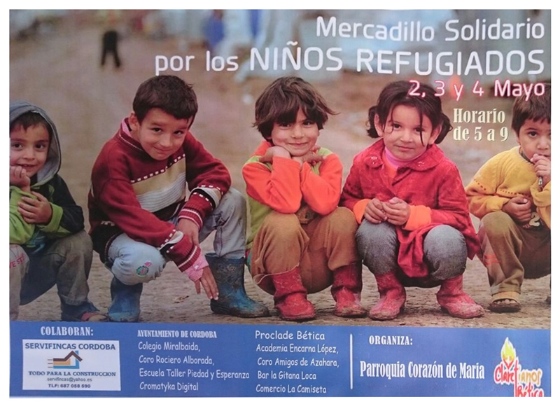 refugiados.Mercadillo Solidario en Córdoba