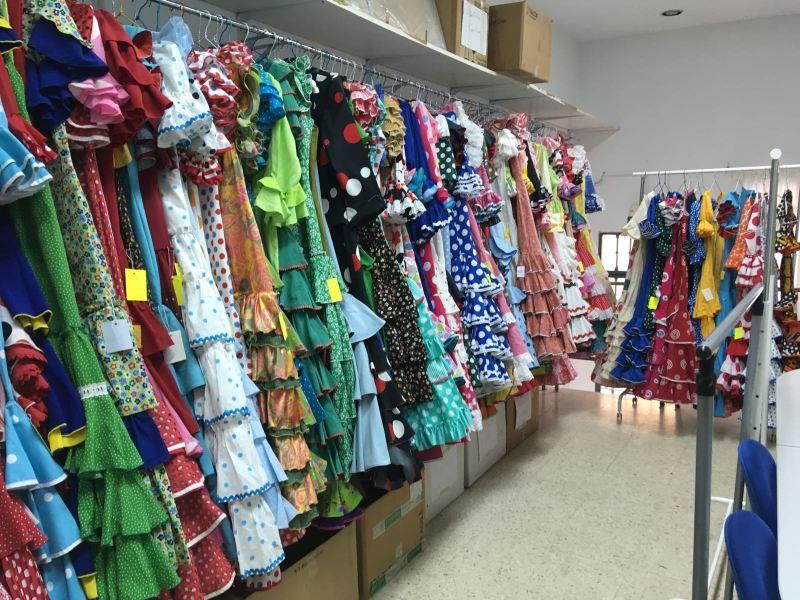 rastrillo de moda flamenca en Sevilla