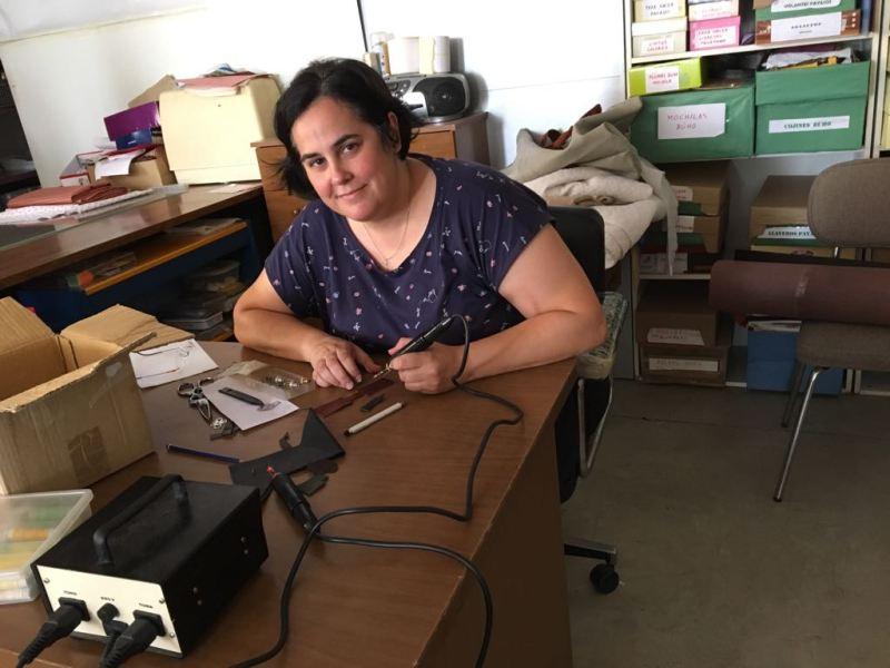 Níjar 2018 Isa trabajando
