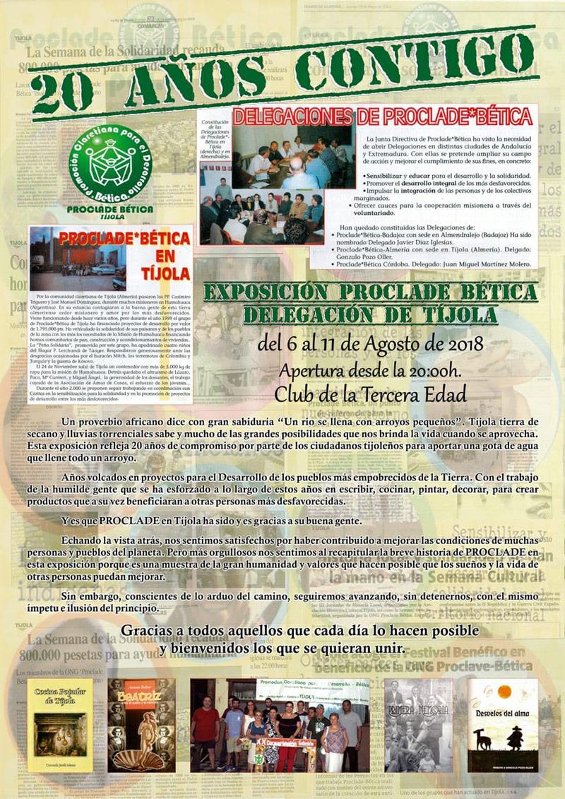 20 Aniversario Delegación de Tíjola de Proclade Bética