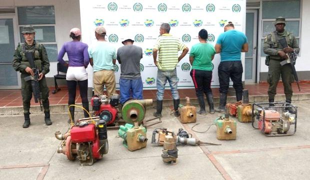 Capturan seis personas por minería ilegal en Santander de Quilichao