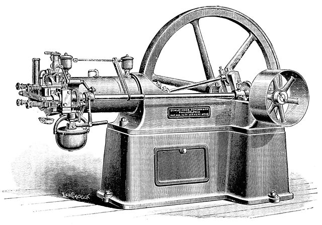 An Otto four-stroke engine. Image courtesy of Popular Science Monthly Volume 18. Licensed under Public Domain via Commons. {{PD-1923}}