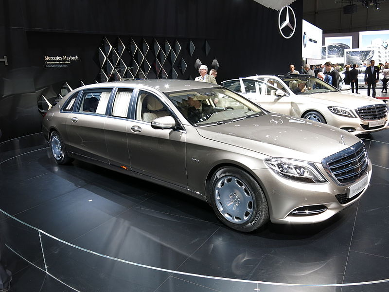 Mercedes Maybach S600 Pullman. Photo by Norbert Aepli on Wikimedia Commons / CC BY-SA 3.0.